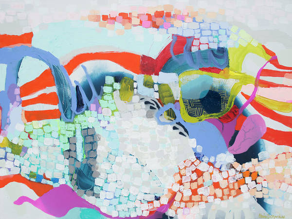 Abstract Poster featuring the painting Make Some Noise by Claire Desjardins
