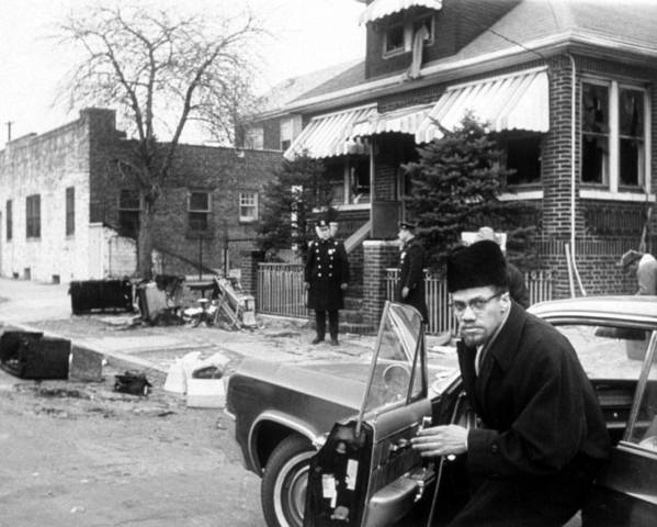 1960s Movies Poster featuring the photograph Malcolm X, Returns Home After His House by Everett
