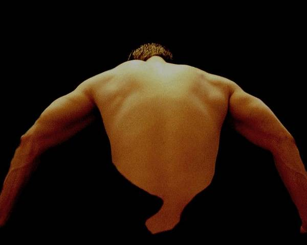 Male Poster featuring the photograph Male Back Study - 8x12 by B Nelson