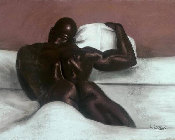 L Cooper Poster featuring the pastel Male Nude by L Cooper