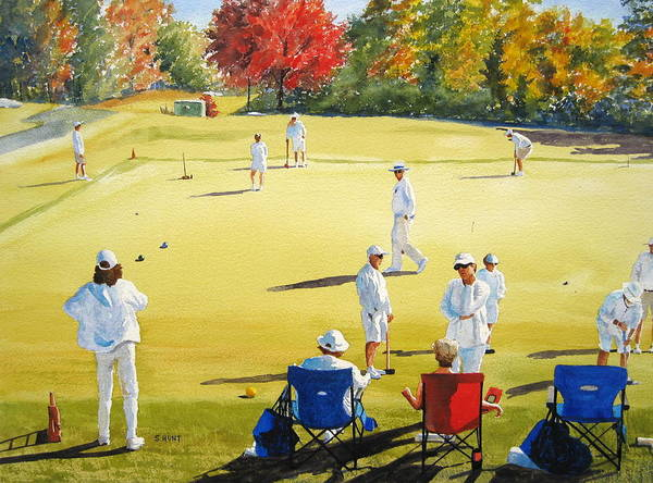 Landscape Poster featuring the painting Mallet Masters by Shirley Braithwaite Hunt