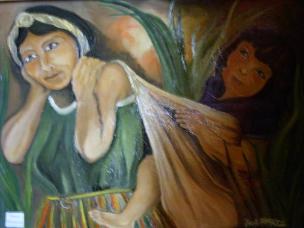 Poster featuring the painting Maman Mexicaine by ALVAREZ Jacky