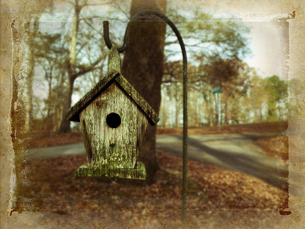 Mamaw Poster featuring the photograph Mamaw's Birdhouse by Steven Michael