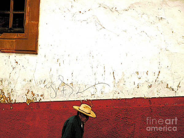 Patzcuaro Poster featuring the photograph Man On A Patzcuaro Street by Mexicolors Art Photography