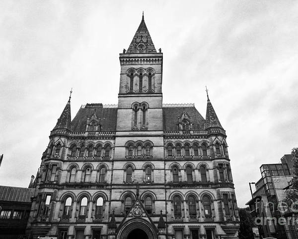 Manchester Poster featuring the photograph Manchester Town Hall England Uk by Joe Fox