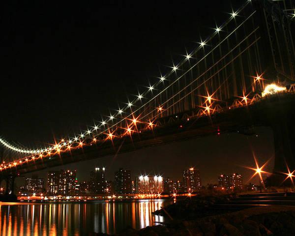 New York City Poster featuring the photograph Manhattan Bridge by Jason Hochman