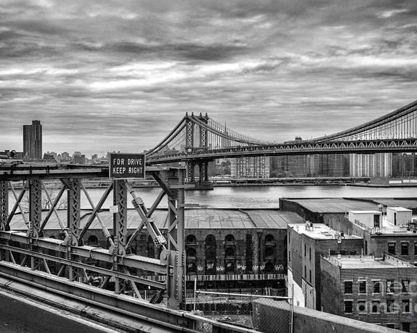Cities Poster featuring the photograph Manhattan Bridge by John Farnan