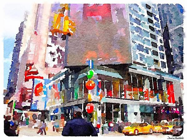 New York Poster featuring the digital art Manhattan Crossroads by Denise Haddock