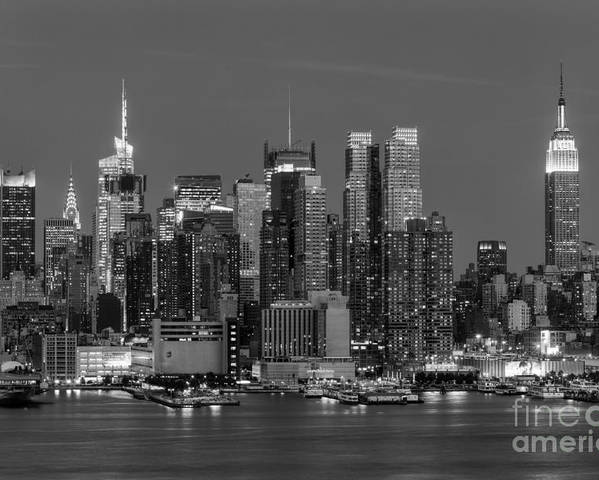 Clarence Holmes Poster featuring the photograph Manhattan Twilight Iv by Clarence Holmes