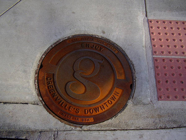 Manhole Poster featuring the photograph Manhole I by Flavia Westerwelle