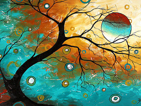Art Poster featuring the painting Many Moons Ago By Madart by Megan Duncanson