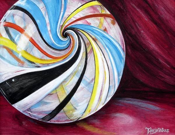 Marble Poster featuring the painting Marbleous by Tanja Ware