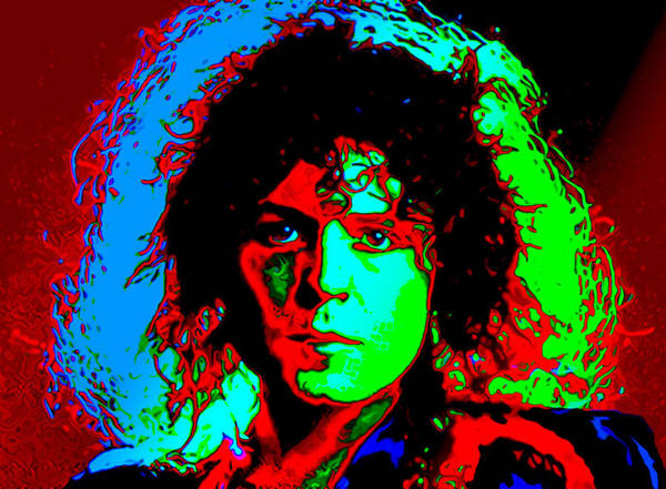 Marc Bolan Poster featuring the digital art Marc Bolan by Martin James