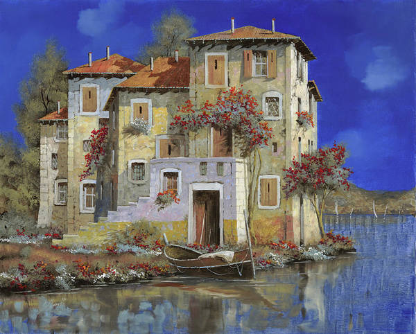 Landscape Poster featuring the painting Mareblu' by Guido Borelli
