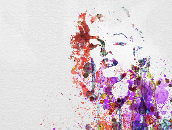 Marilyn Monroe Poster featuring the painting Marilyn Monroe by Naxart Studio