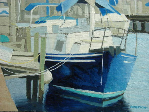 Boat Marinas Poster featuring the painting Marina No1 by Robert Rohrich