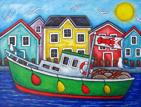 Lisa Lorenz Poster featuring the painting Maritime Special by Lisa Lorenz