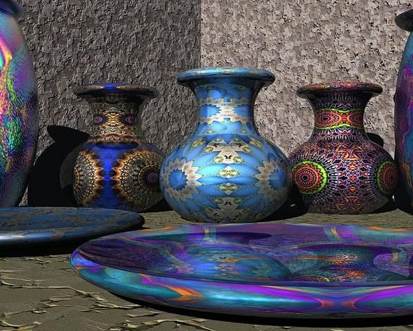 3d Poster featuring the digital art Marrakesh Open Air Market by Lyle Hatch