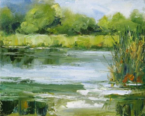 Plein Air Landscape Poster featuring the painting Marsh Inlet by Barrett Edwards