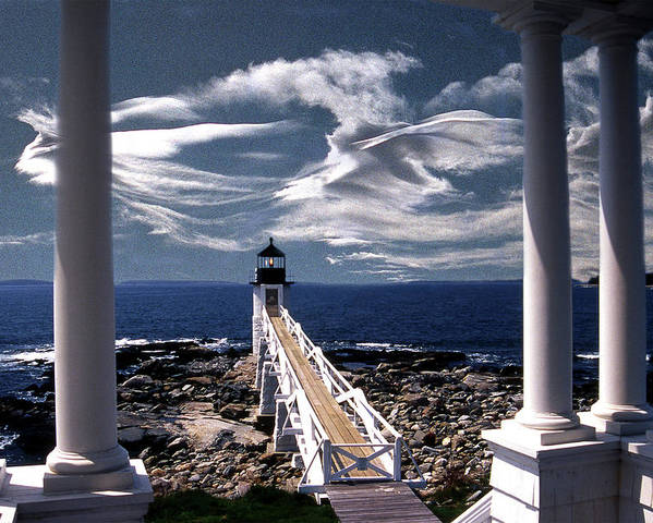 Lighthouses Poster featuring the photograph Marshall Point Lighthouse Maine by Skip Willits
