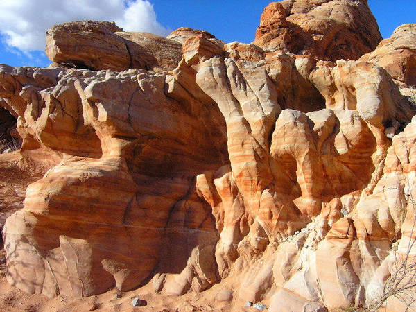 Nature Poster featuring the photograph Martian Cliffs by Silvie Kendall