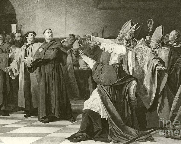 martin luther before the council of worms poster by english school