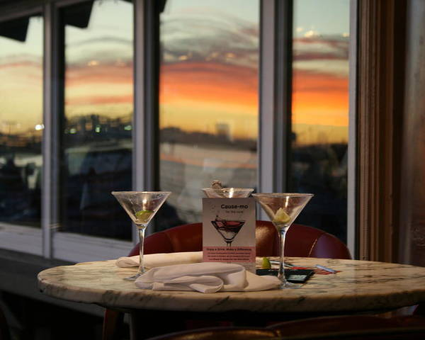 Martini Poster featuring the photograph Martini At Sunset by Joshua Sunday
