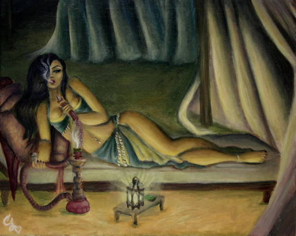Marijuana Poster featuring the painting Mary Jane Addington by C S
