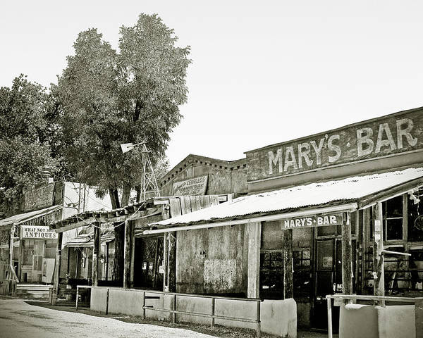 Black Poster featuring the photograph Mary's Bar Cerrillo Nm by Christine Till