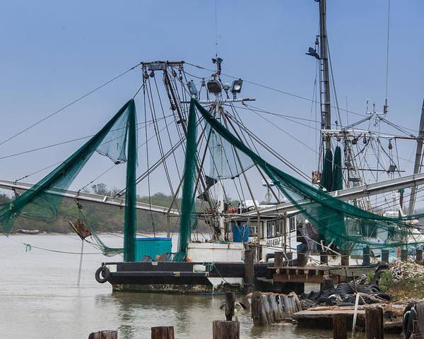 Matagorda Poster featuring the photograph Matagorda Fishing Boats by JG Thompson