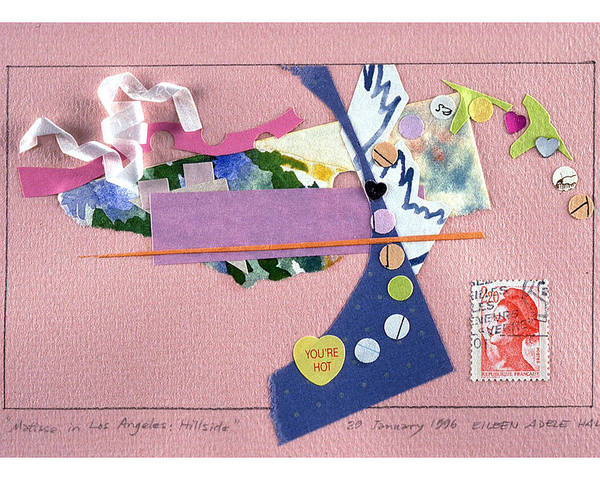 Collage Poster featuring the mixed media Matisse in Los Angeles by Eileen Hale