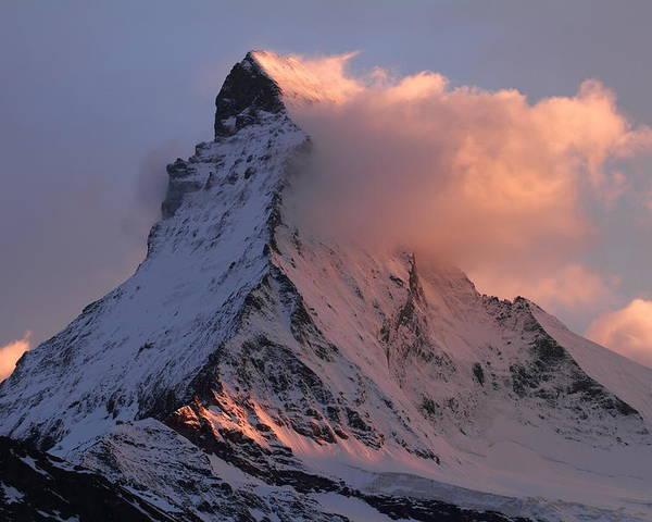 Matterhorn Poster featuring the photograph Matterhorn At Dusk by Jetson Nguyen