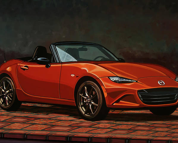 Mazda Mx-5 Miata Poster featuring the painting Mazda Mx-5 Miata 2015 Painting by Paul Meijering