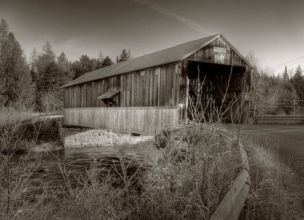 Mccann Poster featuring the photograph Mccann Covered Bridge by Jason Bennett