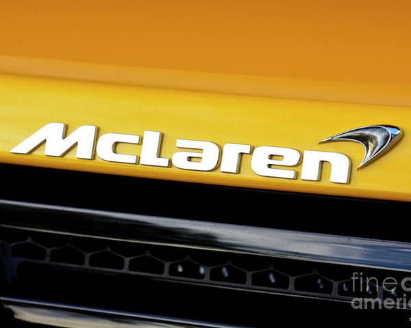 Mclaren Poster featuring the photograph Mclaren by Charles Abrams