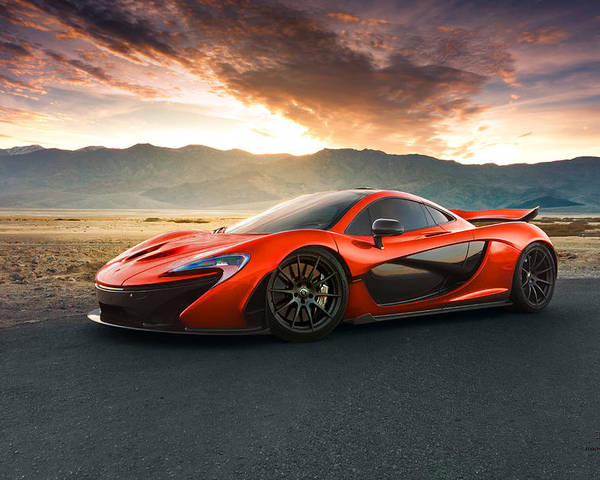 Mclaren P1 Death Valley Sunset Poster By Gil Folk