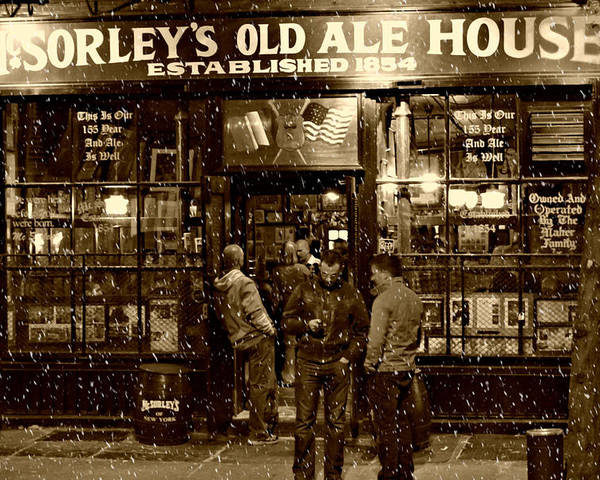 Mcsorley's Old Ale House Poster featuring the photograph Mcsorley's Old Ale House by Randy Aveille