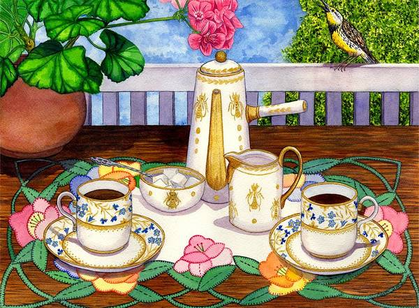 Coffee Poster featuring the painting Meadowlark by Catherine G McElroy