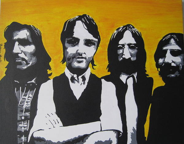 Beatles Poster featuring the painting Mean Mr Mustard by Rebecca Jankowitz