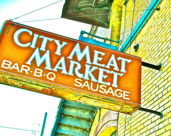 Meat Market Poster featuring the photograph Meat On The Market by Chuck Taylor