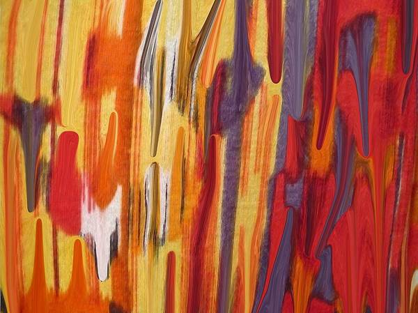 Abstract Poster featuring the painting Melting Pot by Florene Welebny