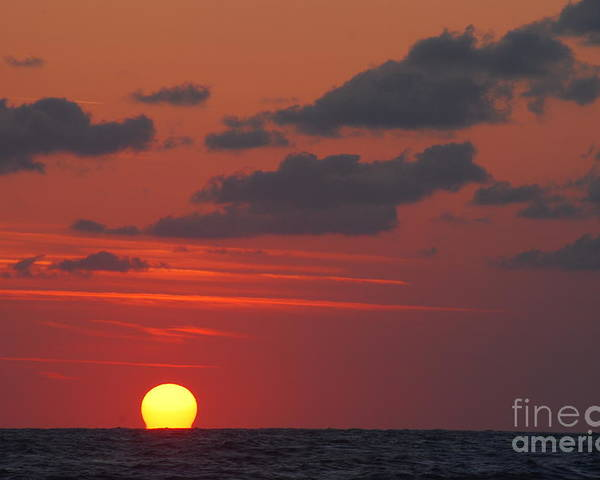 Sun Poster featuring the photograph Melting Sun by Chad Natti