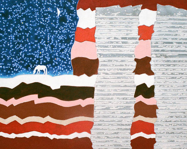 9/11 Poster featuring the painting Memorial by Sharron Loree