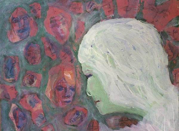 Woman Poster featuring the painting Memories by Judith Redman