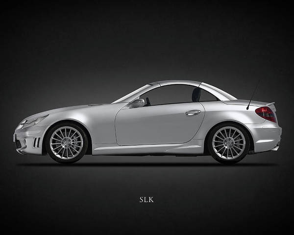 Mercedes benz slk poster by mark rogan for Mercedes benz poster