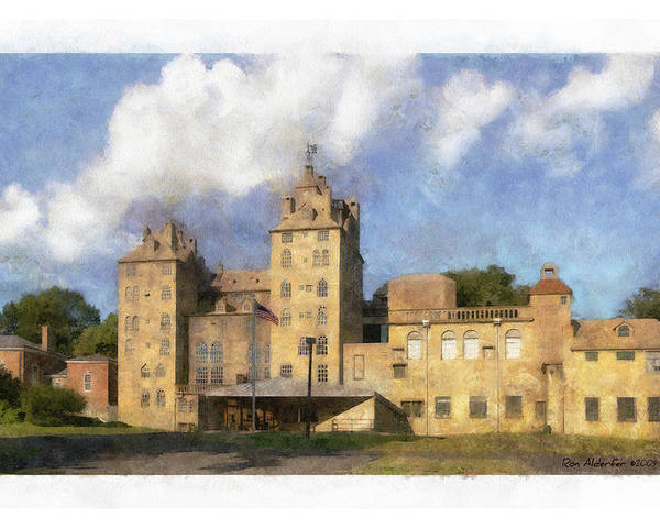 Digital Poster featuring the photograph Mercer Museum by Ron Alderfer
