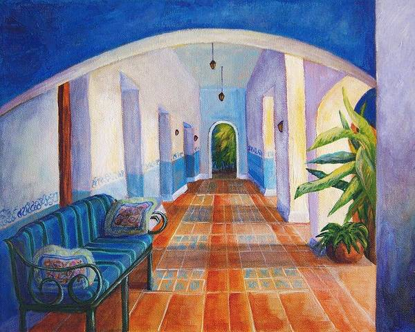 Interior Poster featuring the painting Merida Morning by Candy Mayer