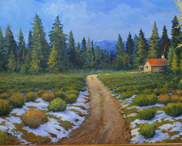 Landscape Poster featuring the painting Merories Take Me Home by Bob Adams