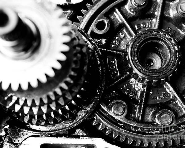 Gear Wheel Poster featuring the photograph Merry-go-round by Vadim Grabbe
