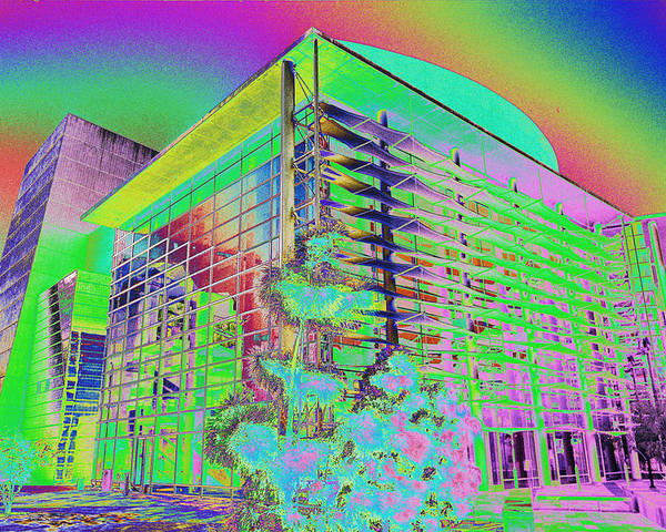 Psychedelic Poster featuring the photograph Mesa Art Center by Richard Henne